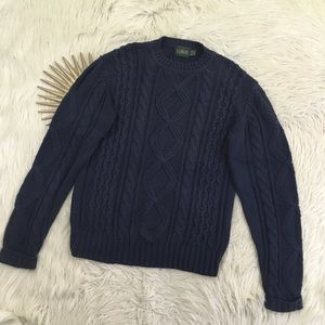 Vintage J Crew Outfitters Blue Cable Knit Sweater